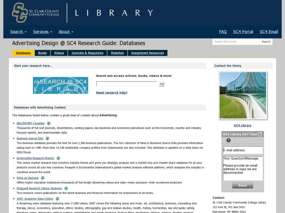 research guide homepage