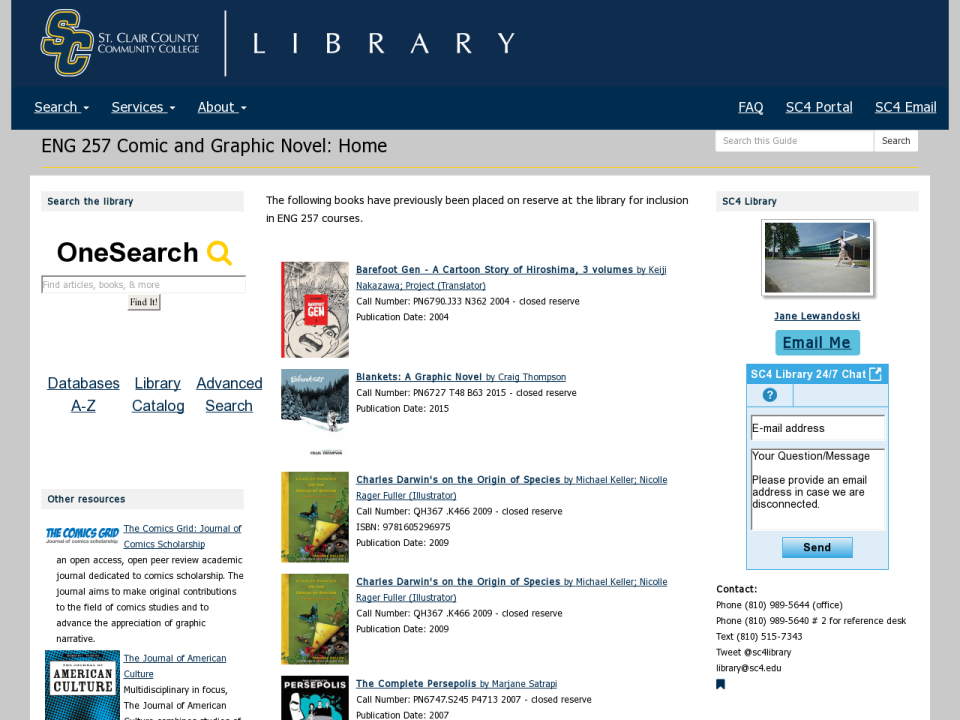 eng 257 research guide homepage